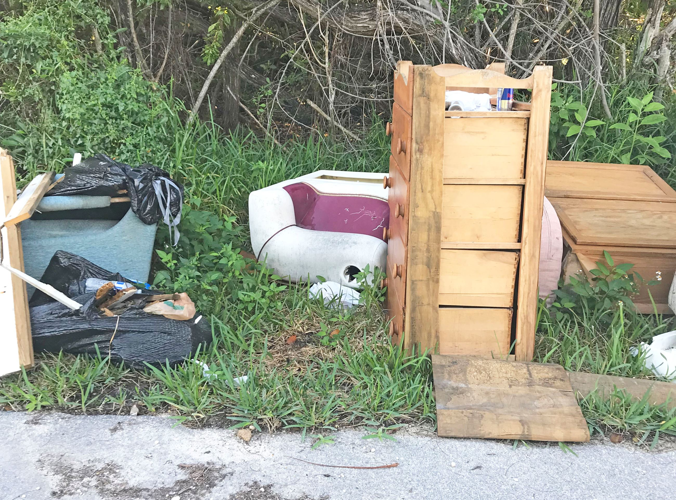 Right of Way Illegal Dumping