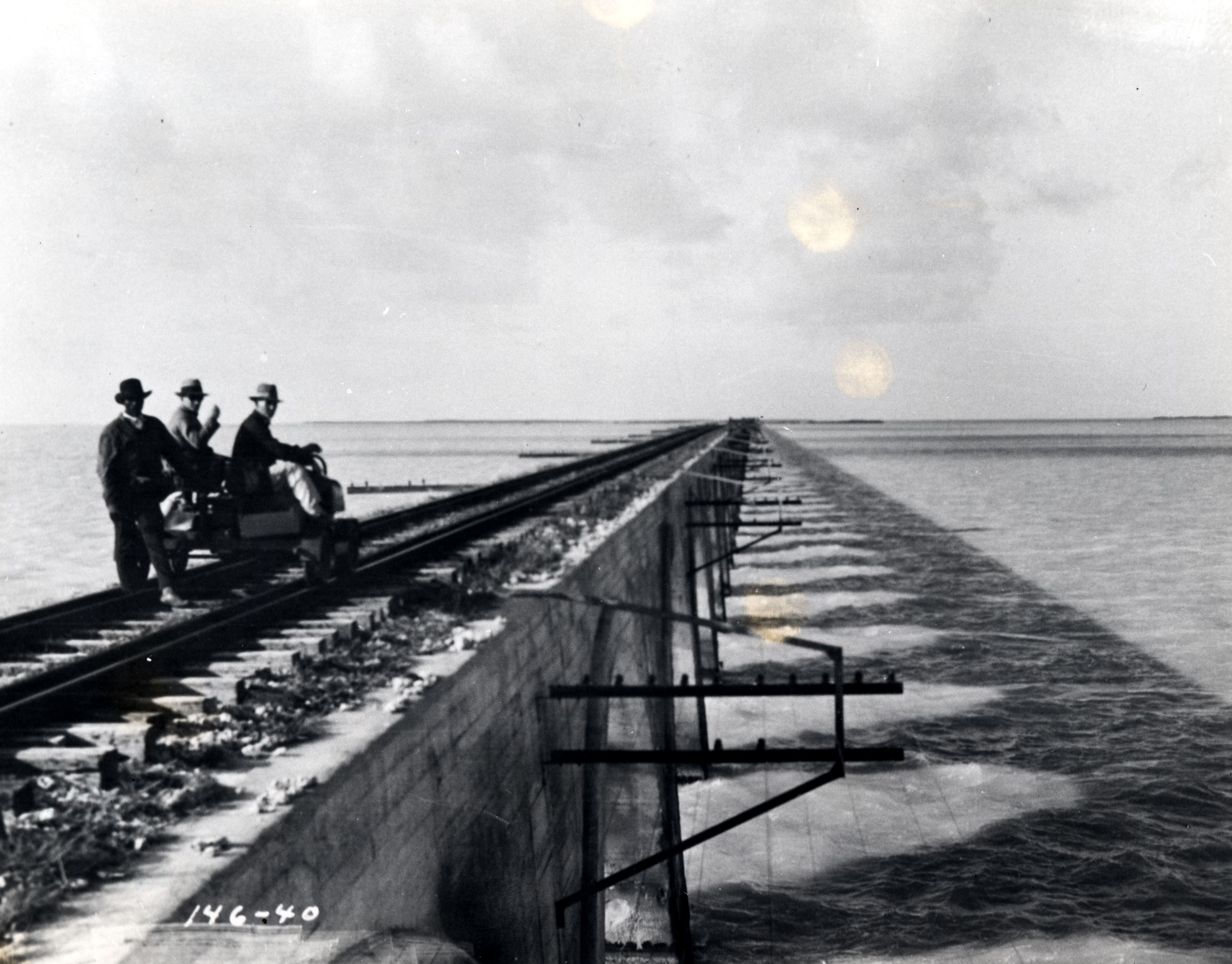 4-5 Railroad motor car on Long Key Viaduct in 1926