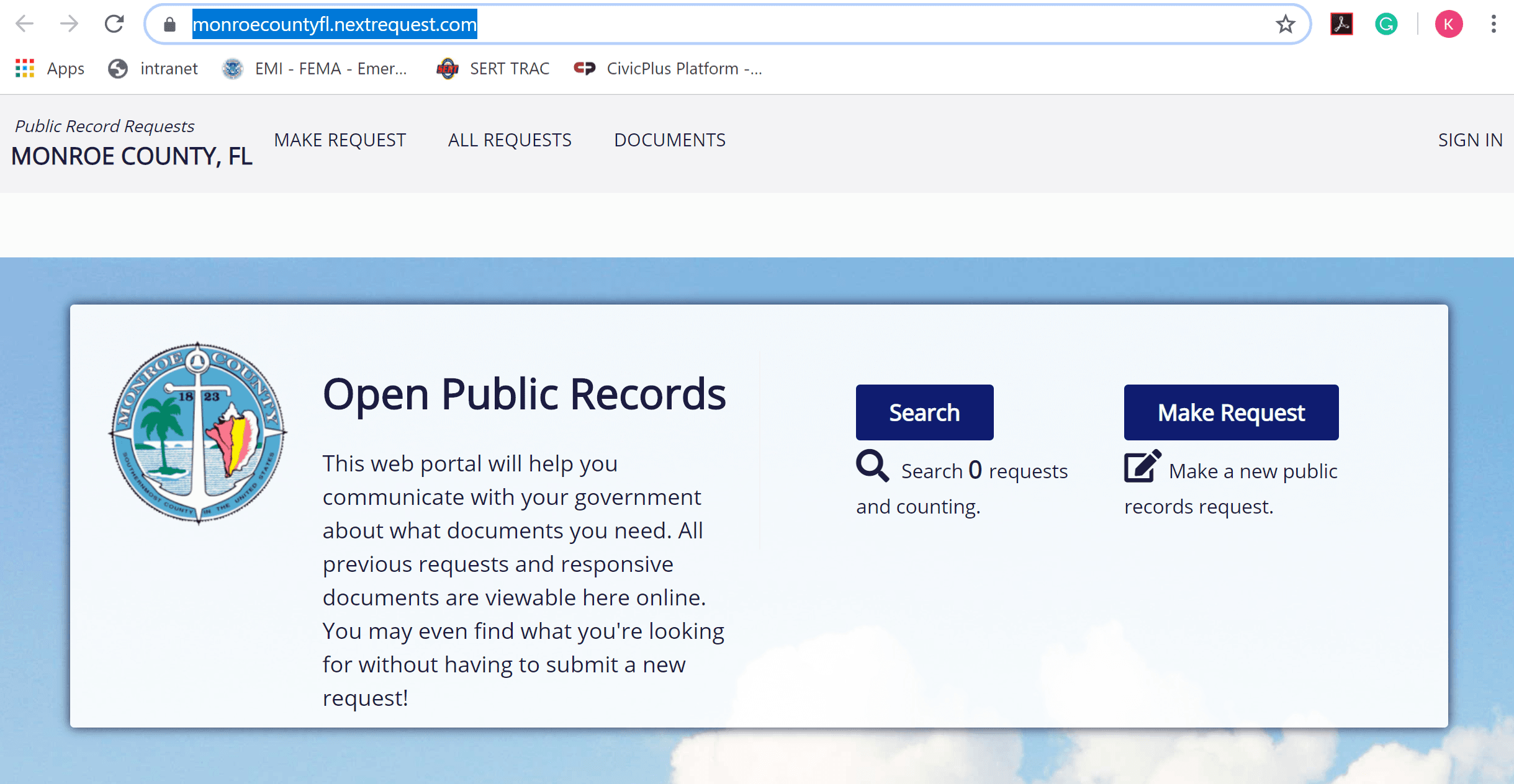 Click here to make a public records request Opens in new window