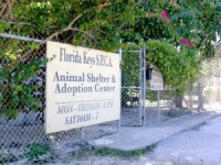 Sign for animal shelter