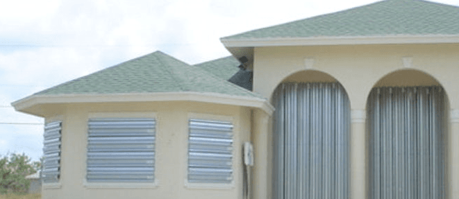 35 - Wind retrofit of house by installing hurricane shutters