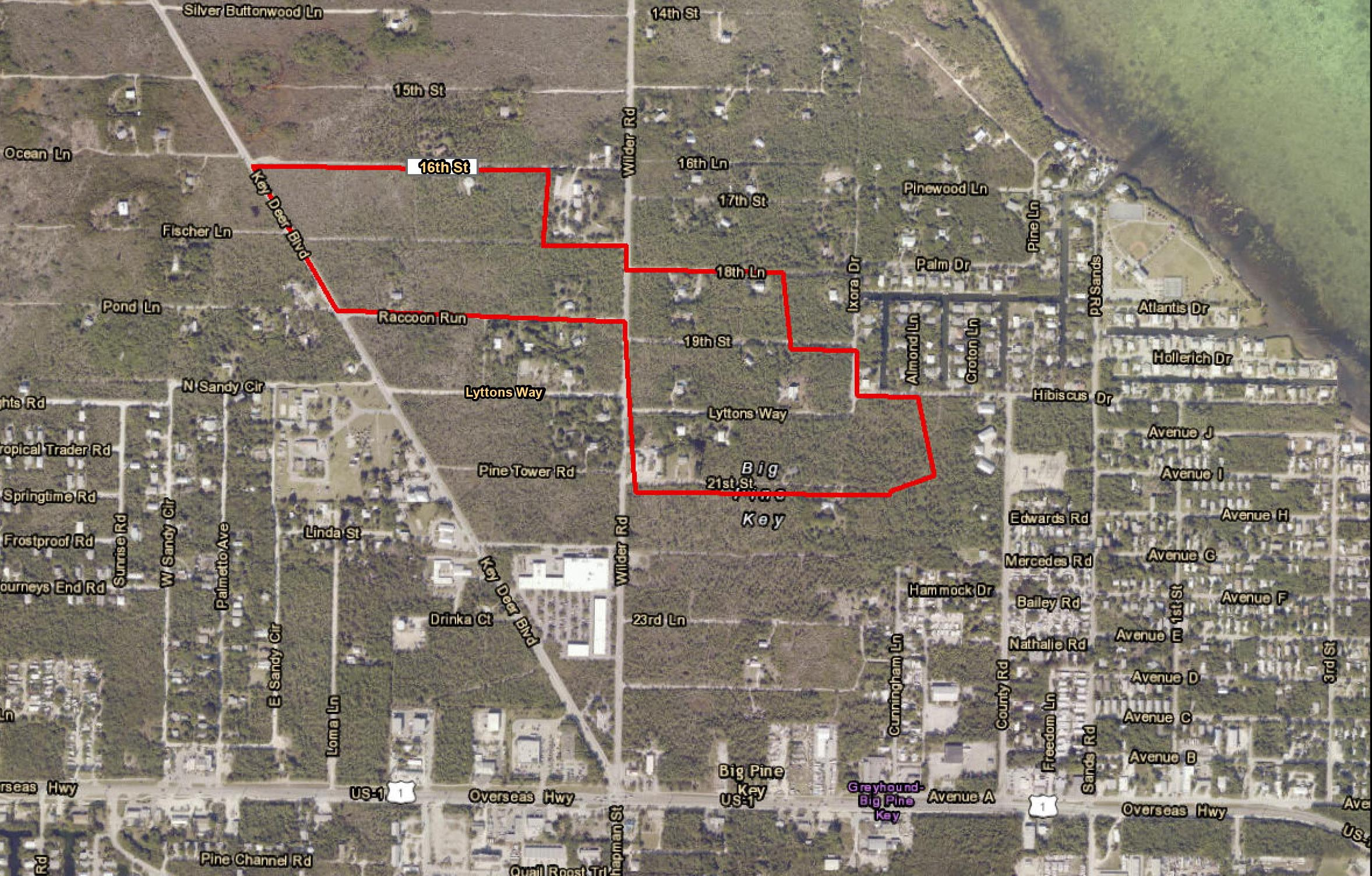 Revised Map of Big Pine Key Brush Fire B